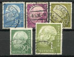 Germania Bund 1954 Usato 100% Presidente, Heuss - [7] Federal Republic