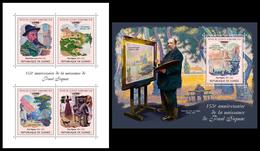 GUINEA 2018 - Paul Signac. M/S + S/S. Official Issue - Impressionisme