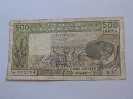 500 Francs 1987 - COTE D'IVOIRE  - Banque Central Des états De L'Afrique De L'ouest   **** EN ACHAT IMMEDIAT **** - Côte D'Ivoire