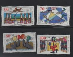 LOT 168 -  ALLEMAGNE BERLIN N° 799/802 **  -  CIRQUE - TIGRES - OTARIES - JONGLEURS - TRAPEZISTE - Cote 15 € - Circus