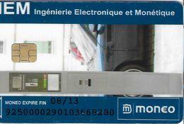 MONEO CARTE A PUCE IEM INGÉNIERIE ELECTRONIQUE ET MONÉTIQUE AUTOMOBILE STATIONNEMENT TRÈS BON ETAT  POUR COLLECTIONNEUR - France