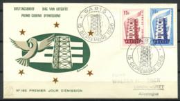 CEPT 1956 Mi. 1104-1105 Primo Giorno 100% Francia - 1956