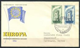 CEPT 1956 Mi. 241-242 Primo Giorno 100% Germania - 1956
