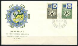 CEPT 1957 Mi. 704-705 Primo Giorno 100% Paesi Bassi - Europa-CEPT