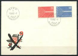 CEPT 1957 Mi. 646-647 Primo Giorno 100% Svizzera - 1957