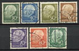 Germania Bund 1956 Mi. 259-265 Usato 100% Presidente - [7] Federal Republic