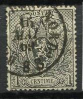 Belgio 1866 Mi. 20 Usato 40% 1 C, Stemma - 1866-1867 Piccolo Leone
