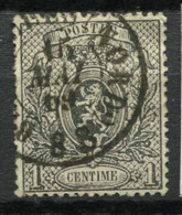 Belgio 1866 Mi. 20 Usato 40% 1 C, Stemma - 1866-1867 Coat Of Arms