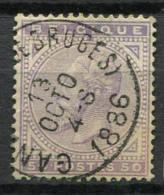 Belgio 1883 Mi. 38 Usato 100% 50 C, Re Leopoldo II - 1883 Leopold II