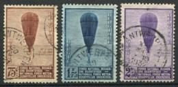 Belgio 1932 Mi. 344-346 Usato 80% Ascensioni Del Prof. Piccard Nella Stratosfera - Belgio