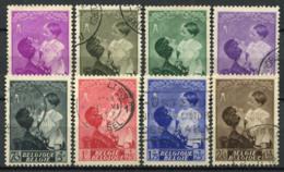 Belgio 1937 Mi. 443-450 Usato 60% Regina Astrid, Principe Baldovino - Belgio