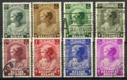 Belgio 1937 Mi. 457-464 Usato 100% Principessa Giuseppina Carlotta - Belgium
