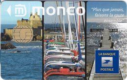 MONEO CARTE A PUCE FAISONT LA ROUTE ENSEMBLE OCEAN BATEAUX VOILIERS ETAT LUXE  POUR COLLECTIONNEUR - Frankrijk