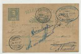 ABRANTES - Postal Comercial De OURIVES A PORTUENSE, 1902   (2 Scans) - Santarem