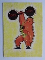 Image LUTTI Circus, Toffées, Découpage, Haltérophile - Confiserie & Biscuits
