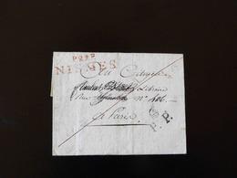 LETTRE DE NISMES POUR PARIS  - - 1801-1848: Precursori XIX
