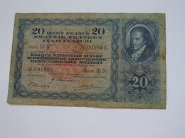 Assez RARE  !!!   20 Frs Suisse 1944 - Banque National SUISSE   **** EN ACHAT IMMEDIAT **** - Suisse
