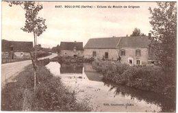Carte Postale Ancienne De BOULOIRE-écluse Du Moulin De Grignon - Bouloire