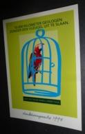 Carte Postale - Perroquet En Cage (Protection Des Animaux) - Publicité