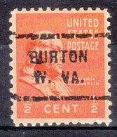USA Precancel Vorausentwertung Preo, Locals West Virginia, Burton 712 - Vereinigte Staaten