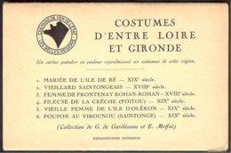 Costumes D'entre Loire Et Gironde:  6 Cp En Couleur,collection De G.de Gardilanne Et E.Moffat - Pays De La Loire