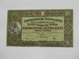 Assez RARE  !!!   5 Frs Suisse 1947 - Banque National SUISSE   **** EN ACHAT IMMEDIAT **** - Suisse