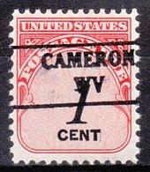 USA Precancel Vorausentwertung Preo, Locals West Virginia, Cameron 882 - Vereinigte Staaten