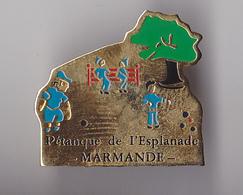PIN'S THEME  PETANQUE  CLUB DE MARMANDE  EN LOT ET GARONNE - Bowls - Pétanque
