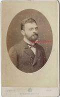 CDV Portrait D'homme-mention ZOLA Au Dos-photo Mouth Ex Carette à Lille - Old (before 1900)