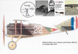 CARTE MAXIMUM- MAXICARD- MAXIMUNKARTEN - MAXIMUM CARD - PORTUGAL - 1ª. GRANDE GUERRE - AVION SPAD VII 35721 - Guerre Mondiale (Première)
