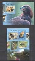 SS326 2014 TOGO FAUNA BIRDS EAGLES LES AIGLES KB+BL MNH - Adler & Greifvögel