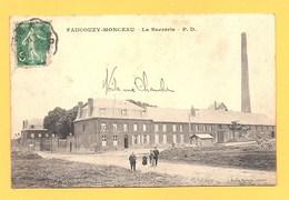 """Carte Postale En Noir & Blanc """" La Sucrerie """" à FAUCOUZY-MONCEAU - Francia"""