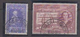 Ruanda-Urundi 1956 Mozart Gest. 1st Dag 10.10.1956 (40981) - Ruanda-Urundi