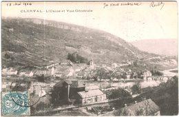 Carte Postale Ancienne De CLERVAL-l'usine Et Vue Générale - Francia