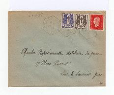 Sur Enveloppe Deux Timbres IVème République Type Chaînes Brisées Et Un Marianne Rouge 2,40 F. CAD 1946. (752) - 1921-1960: Période Moderne