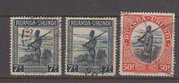 Ruanda-Urundi 1942 Soldaat  Gest. 1w 3x (40981A) - Ruanda-Urundi