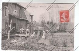 Belle CPA COURTENAY (45) - Le Moulin - Boulangerie De M. MORIZOT Datée 1909 - Courtenay