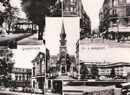 Carte 1950 Quartier St Lambert : Multivues Tabac De La Mairie,lycée Sée ,square Vaugirard,église St Lambert - Distretto: 15