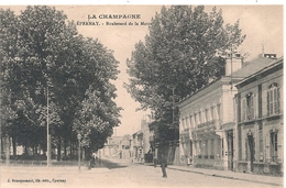 Cpa 51 Epernay Boulevard De La Motte - Epernay