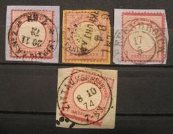 Dt.Reich Brustschilde 1873 - 1874 Mi.Nr.4,19 Stempel Beachten!   (I303) - Allemagne