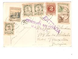 PR6048/PC Spain View Malaga Censura Militar Malaga To Belgica - 1931-Today: 2nd Rep - ... Juan Carlos I