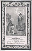 Priez Pour. Duprez Angélique. Veuve. Dendievel Jean-Baptiste. ° Dottignies 1766 † Coyghem 1860  (2 Scan's) - Religion & Esotérisme