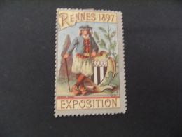 Erinnophilie Rennes 1897 Exposition   Vignette Timbre - Commemorative Labels