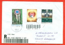Austria 2003. Austrian Abroad, Moderne Art. Greeting Stamp.Registered Envelope Passed Mail. - 2001-10 Cartas