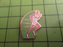 511b Pin's Pins / Beau Et Rare / THEME : SPORTS / ATHLETISME COURSE A PIED TOUT RENNES COURT Sans Moi ! - Athletics