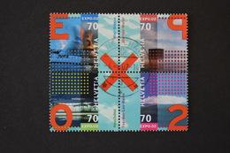 Suisse - 2002 Expo 02 Arteplage 4 Valeurs Se Tenant N° 1710 à 1713 Oblitérés - Schweiz