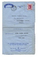 SAINT MAUR  Ste Elysées Films  1956 Aérogramme De Hong Kong Chine   Poh Yuen Hong - Old Paper