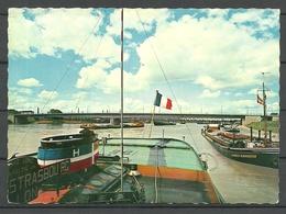 Germany Post Card KEHL Am Rhein France-Germany Border Europabrücke Bridge Sent 1991 - Kehl