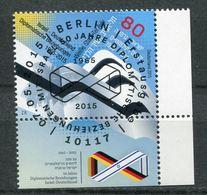 """Germany 2015 Michel.Nr.3154"""" 50 Jahre Diplomatische Beziehungen Mit Israel"""" 1 Wert Used - Oblitérés"""