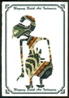 Indonesie Special Card Wajang Batik Art In Relief No Stamp - Indonesia